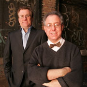 Focus Features co-presidents David Linde, left and James Schamus, produced three Oscar-nominated movies.
