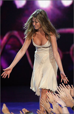 She's a favorite: Jennifer Aniston wins for female movie star.