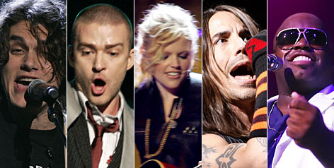 Who will win?: John Mayer, Justin Timberlake, Dixie Chicks, Red Hot Chili Peppers and Gnarls Barkley.