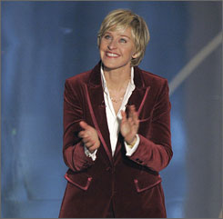 Ellen DeGeneres' upbeat demeanor more than made up for the show's glacial pacing.