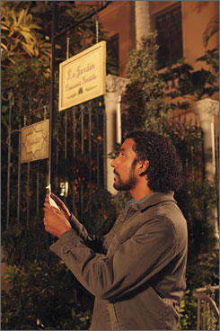 Off the island: Naveen Andrews (Sayid) finds himself in Paris in an upcoming flashback.