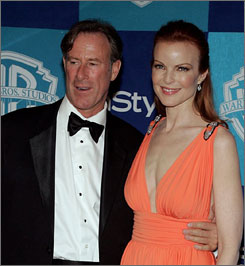 'Desperate Houswives' star Marcia Cross and husband Tom Mahoney welcomed twin girls on Feb. 20.