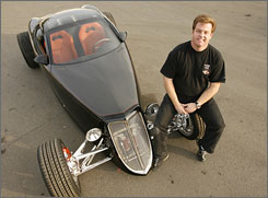 From school project to masterpiece: Foose dreamed up the Hemisfear when he was a senior at the Art Center College of Design in Pasadena.