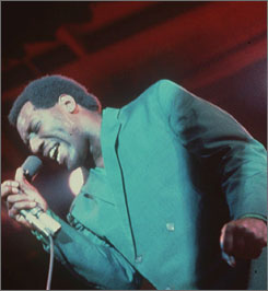 Otis Redding sings at the Monterey Pop Festival in 1967.