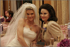 Bridezilla: Missi Pyle, left, with Delta Burke, will return as a regular.