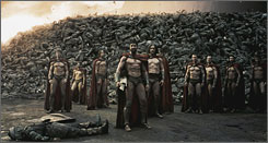 And you will know us by the trail of dead: Stunning visuals  and bodies  are piled high in 300, an operatic take on the ancient Battle of Thermopylae, which pitted 300 Spartans against a huge army of invading Persians.