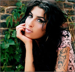 "Music talks: ""I'm a lot better on record than I am in real life,"" notes newcomer Amy Winehouse, who calls herself a self-professed manic-depressive, ugly drunk."
