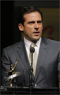 """""""I love the awards season,"""" says Carell, who has been a podium fixture thanks to The Office and Little Miss Sunshine. """"I wish they'd go on all year. It would mean I didn't have to work."""""""