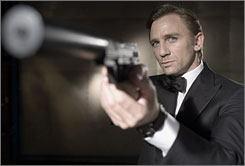 Surefire 007: Daniel Craig takes a shot at being a James Bond more about cards than women in Casino Royale.