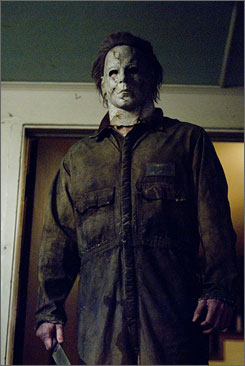 Rob Zombie's version: The upcoming Halloween goes behind the mask of Myers (Tyler Mane).
