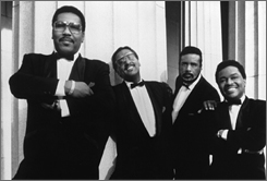 The Four Tops, from left: Lawrence Payton, Abdul Fakir, Levi Stubbs and Renaldo Obi Benson.