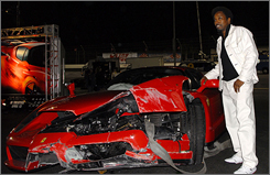 """""""Undercover Brother's good at karate and all the rest of that, but the Brother can't drive,"""" comedian Eddie Griffin cracked after wrecking a Ferrari Enzo worth $1.5 million."""
