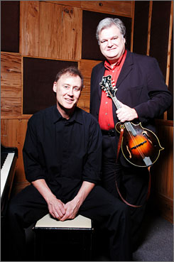 May  their mandolins  reign:  Bruce  Hornsby,  left, and  Ricky  Skaggs  have  collaborated  on  a  new  album. It  is  named,appropriately  enough, Ricky Skaggs &  Bruce  Hornsby.