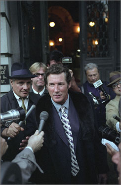 Media frenzy: Richard Gere portrays Clifford Irving, who sells a bogus book about Howard Hughes.