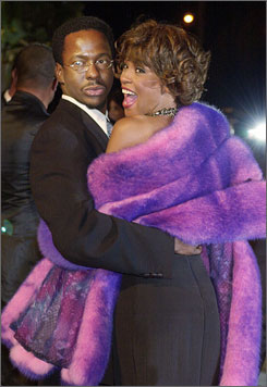 Six happy years ago: Bobby Brown and Whitney Houston.