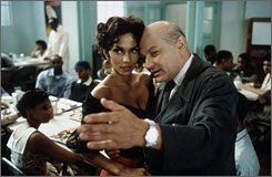 Playing Preminger: Klaus Maria Brandauer with Halle Berry in Introducing Dorothy Dandridge.