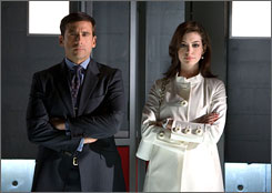 In CONTROL: Steve Carell and Anne Hathaway update TV hit.