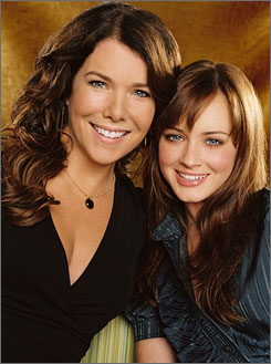 Hard to say good-bye: Gilmore Girls' mom-and-daughter team Lauren Graham and Alexis Bledel. 