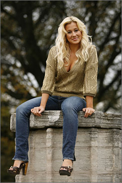 Knows her niche: Season 5 contestant Kellie Pickler's debut album, Small Town Girl, went gold.