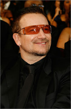 U2: Bono and his bandmate the Edge are on board for the Spider-Man stage show.