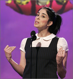 Sarah Silverman, seen here hosting February's Independent Spirit Awards, will preside over the MTV Movie Awards on June 3.