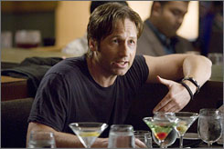 A different sort of X-Files: David Duchovny takes a comedic turn in Showtime's racy Californication.