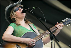 Lucinda Williams: The Louisiana native brought her high-octane blend of rock, folk and country to Jazz Fest's first weekend.The festival concludes next weekend.