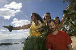 The wonderful world of Judd: Judd Apatow visits the Honolulu set of Forgetting Sarah Marshall, one of nine movies he's working on. Apatow's new comedy, Knocked Up, opens June 1.