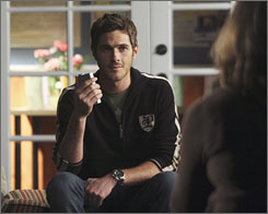Young man off to Iraq: Dave Annable can only await the Season 2 fate of his character, Justin Walker.
