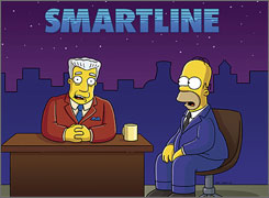 This just in: Anchorman Kent Brockman utters a swear word on his live current-affairs show after Homer spills coffee on him.