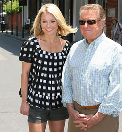 On Monday, Kelly Ripa and Regis Philbin helped people build a playground at a New Orleans elementary school.