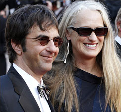 Director Atom Egoyan, left, joins Jane Campion for a screening of Chacun son Cinema at the 60th Cannes Film Festival on Sunday.