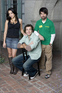Chuck: Natalie Martinez, Zachary Levi and Joshua Gomez star in a spy-secrets comedy. The show airs Tuesdays at 9.