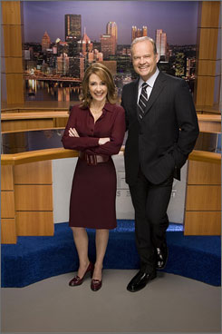 Back to You: Kelsey Grammer and Patricia Heaton are in the news business.
