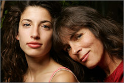 Look-alikes: Tania Raymonde, who plays Alex, and Mira Furlan, who plays mom Danielle, shot their reunion scene moments after meeting for the first time.