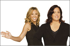 'The View' hosts Elisabeth Hasselbeck, left, and Rosie O'Donnell got into a heated political exchange on Wednesday's show.