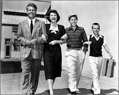 The TV family: Ozzie, Harriet, David and Ricky Nelson.