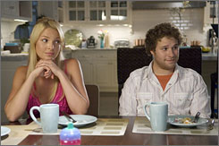 Mismatch: Ambitious journalist Alison (Katherine Heigl) tries to get to know Ben (Seth Rogen) after a one-night stand with him leaves her pregnant.