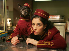 "Looking for ""liveness"": Sarah Silverman hosts the MTV Movie Awards."