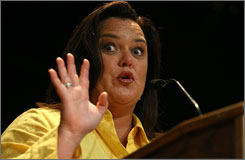 Promoting her memoir: Rosie O'Donnell refrained from controversy  during her appearance Sunday at BookExpo in New York.  