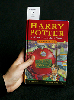 A first-edition copy of the original Harry Potter book could bring in between $10,000 and $20,000 at Bonhams auction house in London.
