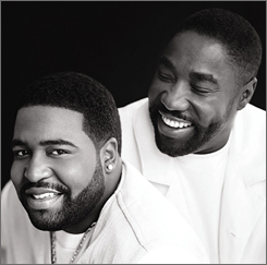 Gerald Levert, left, son of Eddie, died in November at age 40.