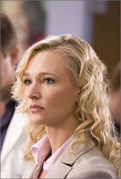 Matchett: Her character, Kate, coordinates organ recovery.