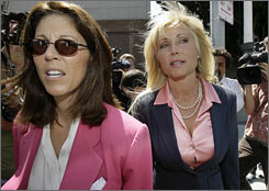 Pamela Bach, left, dropped her lawyer Debra Opri, shown here.