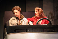 From Riverdale to Riverhead: Bess Rous, left, and Sharon Angela in Anastasia Traina's portrayal of the journey of three sisters and a niece to visit one sister's son, who is in jail.