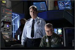In character: Beau Bridges, left, stars as Gen. Hank Landry in TV's longest-running sci-fi series in the USA.