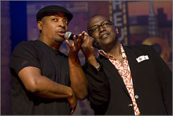 Hosts: Chuck D., left, and Randy Jackson help celebrate the music of the Stax label.