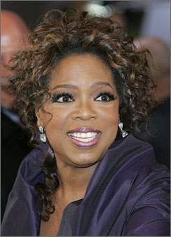 Oprah Winfrey already sells merchandise on her website, where you can buy beach totes, coffee mugs and baskets.