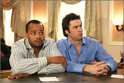 No fountain of youth: Though Scrubs, with Donald Faison, left, and Zach Braff, is among the youngest-skewing TV series, it's not enough to keep NBC's median age from rising.