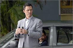 I spy some laughs: Jeffrey Donovan plays Michael Westen, who must find stolen artwork  and deal with his ex-girlfriend and his mother.
